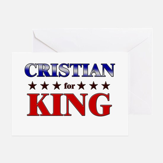 CRISTIAN for king Greeting Card
