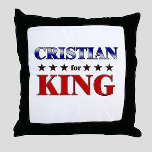 CRISTIAN for king Throw Pillow