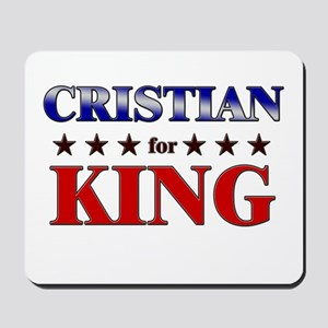CRISTIAN for king Mousepad
