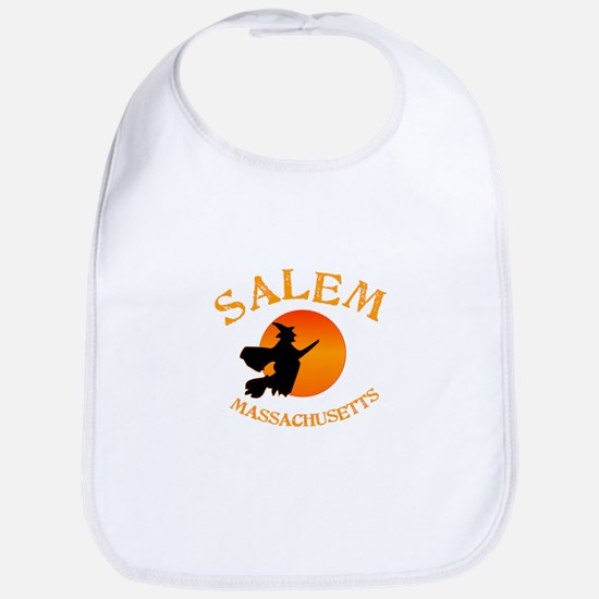 Salem Massachusetts Witch Baby Bib