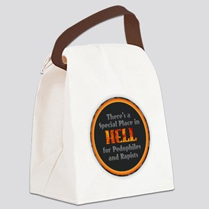 Hell for Pedophiles and Rapists Canvas Lunch Bag