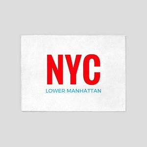 NYC Lower Manhattan 5'x7'Area Rug