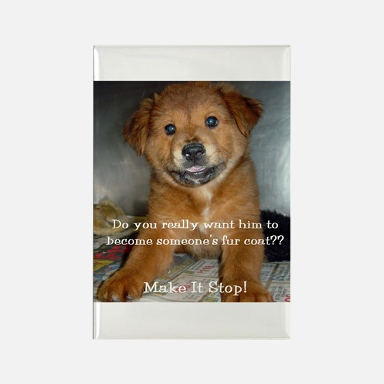Make it Stop 5 Rectangle Magnet