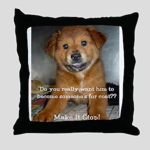 Make it Stop 5 Throw Pillow