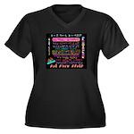 Codarific Women's Plus Size V-Neck Dark T-Shirt