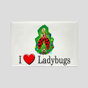 I Love Ladybugs Rectangle Magnet