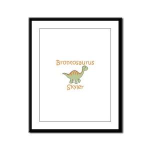 Brontosaurus Skyler Framed Panel Print