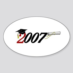 '007 UNIQUE Original Design Oval Sticker
