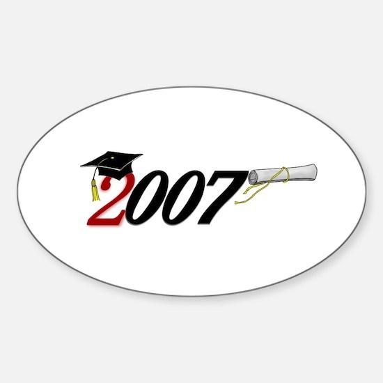 '007 UNIQUE Original Design Oval Decal