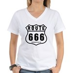 Route 666 Women's V-Neck T-Shirt