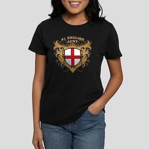 Number One English Aunt Women's Dark T-Shirt