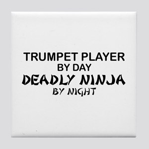 Trumpet Player Deadly Ninja Tile Coaster