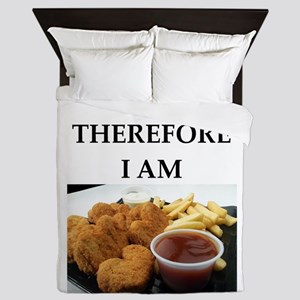 Chicken nuggets Queen Duvet