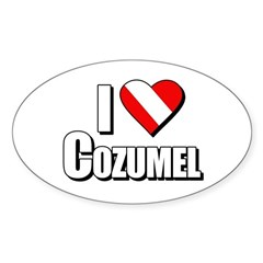 https://i3.cpcache.com/product/231673622/scuba_i_love_cozumel_oval_decal.jpg?side=Front&color=White&height=240&width=240