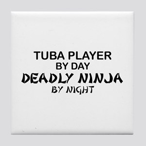 Tuba Player Deadly Ninja Tile Coaster