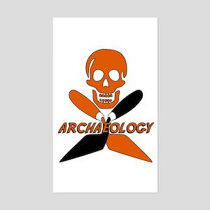 Skull & Crossed Trowels Rectangle Sticker