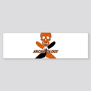 Skull & Crossed Trowels Bumper Sticker