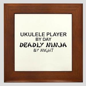 Ukulele Player Deadly Ninja Framed Tile