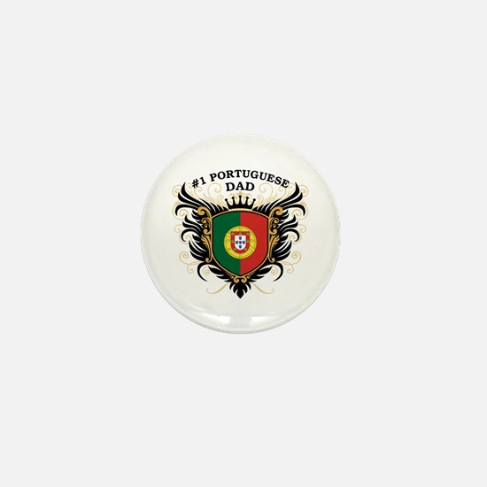 Number One Portuguese Dad Mini Button
