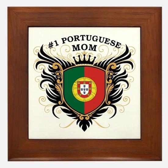 Number One Portuguese Mom Framed Tile
