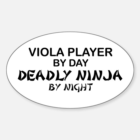 Viola Deadly Ninja by Night Oval Decal