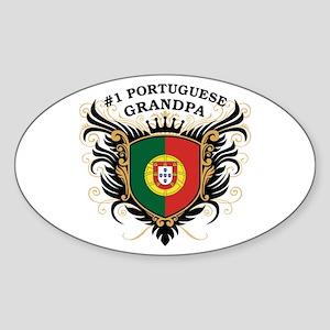 Number One Portuguese Grandpa Oval Sticker