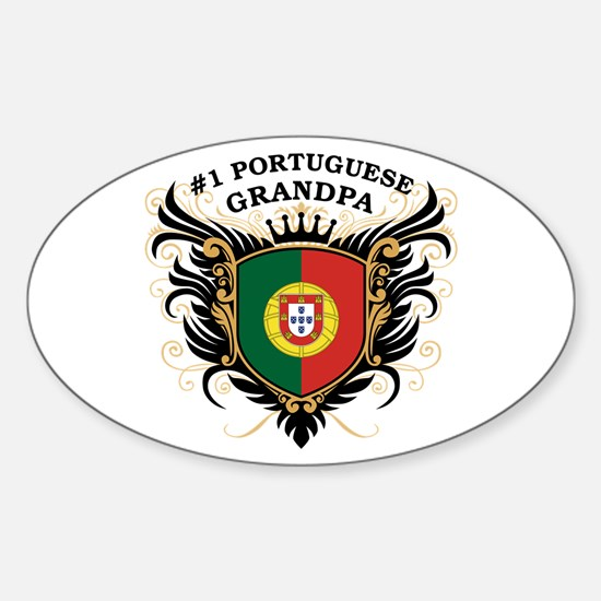 Number One Portuguese Grandpa Oval Decal