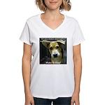 Make It Stop 7 Women's V-Neck T-Shirt