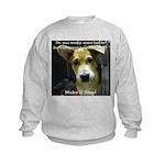 Make It Stop 7 Kids Sweatshirt