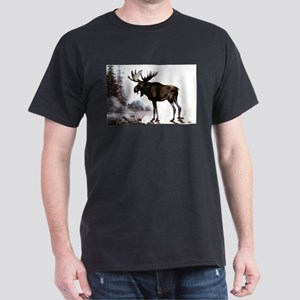 Moose (Front only) Dark T-Shirt