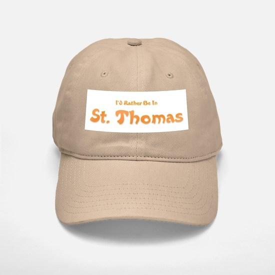 I'd Rather Be...St. Thomas Baseball Baseball Cap