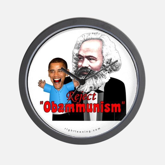 Reject Obammunism anti-Obama Wall Clock