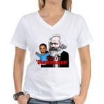 Reject Obammunism anti-Obama Women's V-Neck T-Shir