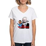 Reject Obammunism anti-Obama Women's V-Neck T-Shir