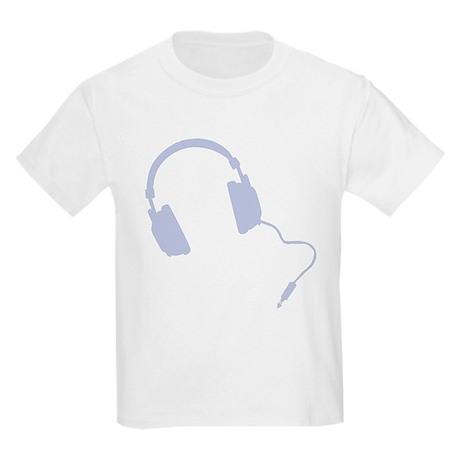 Retro headphones blue Kids Light T-Shirt