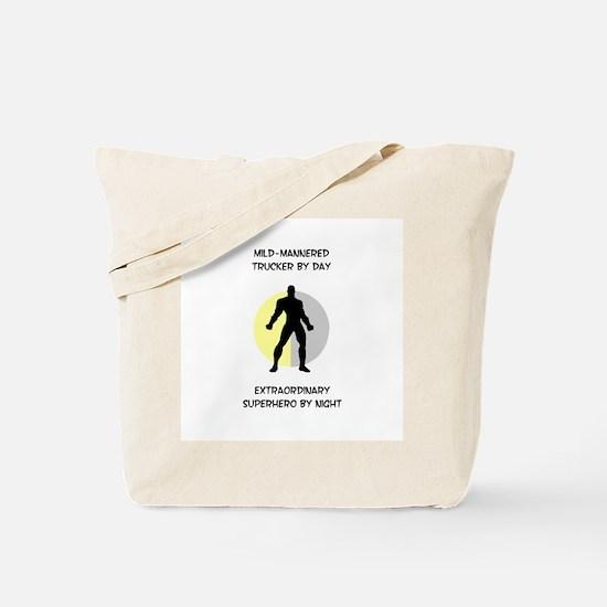 Trucking Superhero Tote Bag