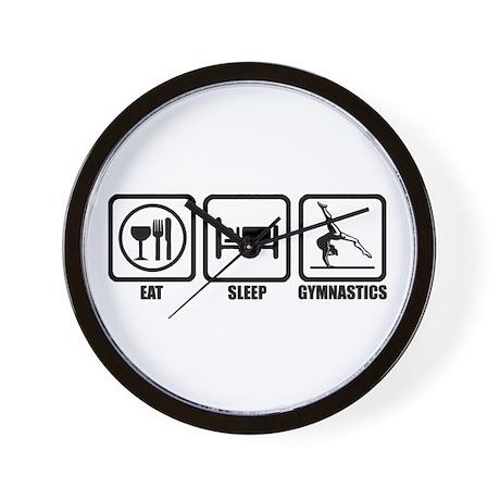 Eat, Sleep, Gymnastics Wall Clock