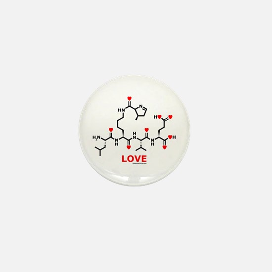 Love molecule Mini Button