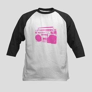 Retro boobbox hot pink Kids Baseball Jersey