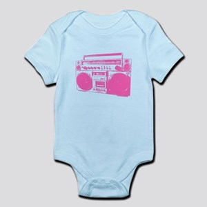 Retro boobbox hot pink Infant Bodysuit