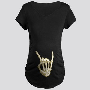 Rock in Bone Maternity Dark T-Shirt