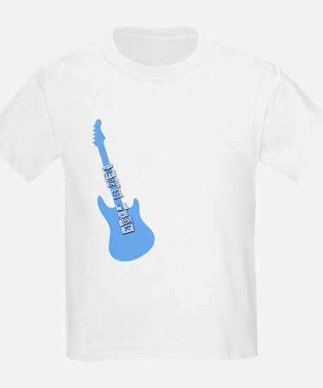 Let's rock blue guitar T-Shirt