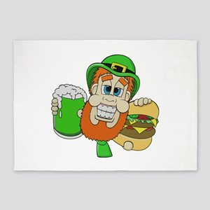 Funny St Patricks day t shirts 5'x7'Area Rug