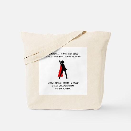 Superheroine Social Worker Tote Bag