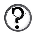 Question Everything Wall Clock