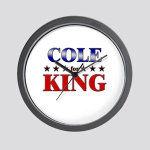 COLE for king Wall Clock