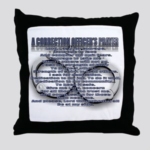 CORRECTION'S OFFICER PRAYER Throw Pillow