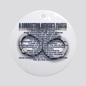 CORRECTION'S OFFICER PRAYER Ornament (Round)