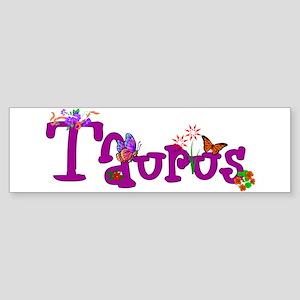 Taurus Flowers Sticker (Bumper)