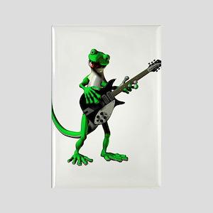 Electric Guitar Gecko Rectangle Magnet